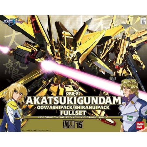 Bandai Gundam 1/100 Destiny ORB-01 Akatsuki OO Washi/Shiranui Model Kit 15