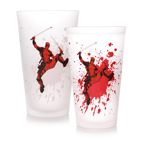 Marvel Deadpool Cold Changing Glass
