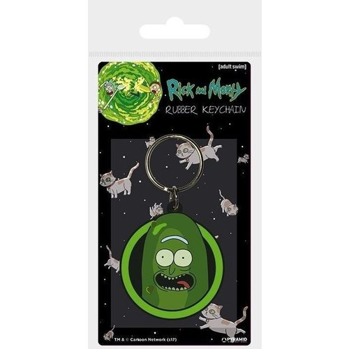 Rick and Morty Pickle Rick Rubber Keychain