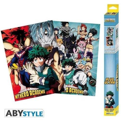 My Hero Academia Artworks Set 2 Posters 52x38cm