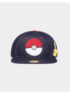 Pokemon Pokeball Denim Adjustable Cap