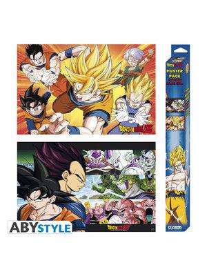 Dragon Ball Saiyans Set 2 Posters 52x38cm