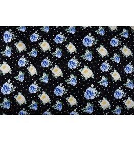 Stretch Cotton Flowerprint dots