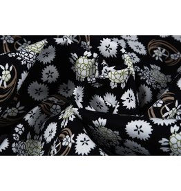 Stretch Cotton Abstract flowers