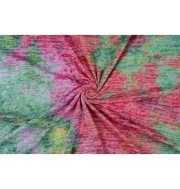 Jersey Tie and Dye Wena Roze-groen