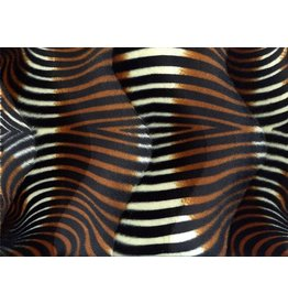 Velboa zebraprint Black-Brown