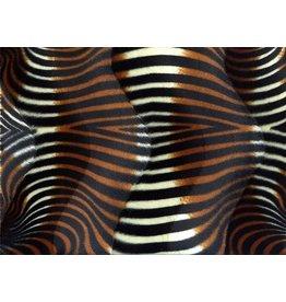 Velboa zebraprint Zwart-bruin