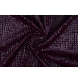 Fur Snake Foil Shiny Bordeaux