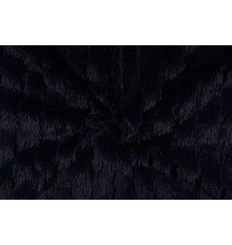 Zottelplüsch Linie Marineblau