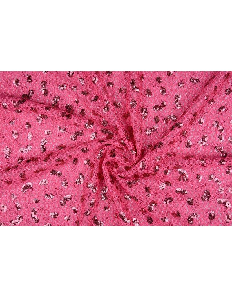 Lace with Sequins Fuchsia