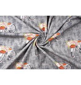 Digitale Print Bloemenfiets Cotton Jersey