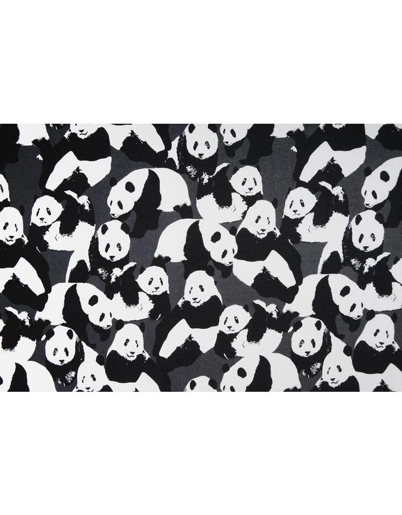 Jogging Alpenfleece Panda's Grijs