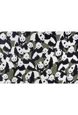 Sweatstoff Alpenfleece Pandas Grün
