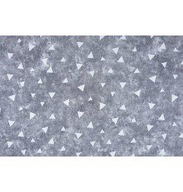 Sweatstoff Alpenfleece Dreieck mit Schatten Grau