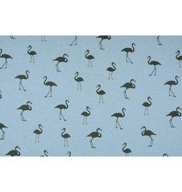 Sweatstoff Alpenfleece Flamingo Hellblau