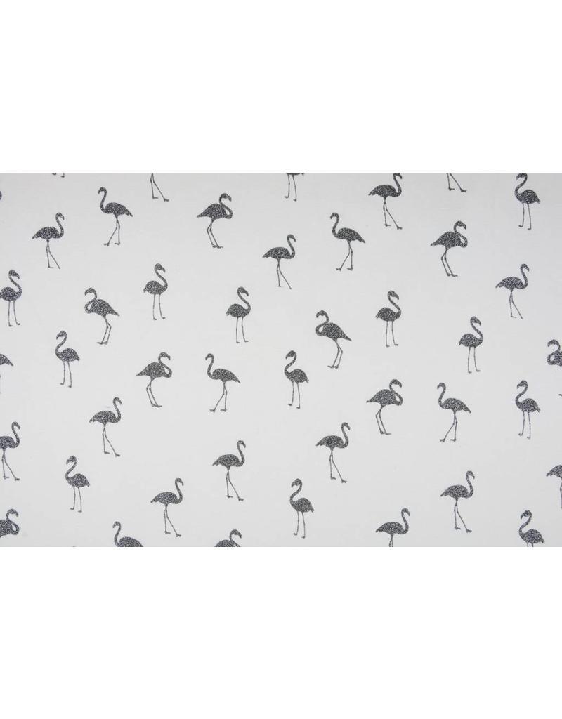 Jogging Alpenfleece Flamingo glitter Ecru