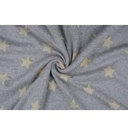 Jogging Alpenfleece Star with glitter Grey-Gold
