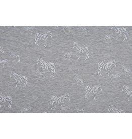 Sweatstoff Alpenfleece Zebra Weiß