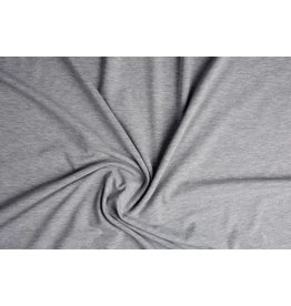 Cotton Jersey  Light grey Melange
