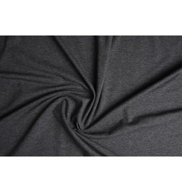 Cotton Jersey Donker grijs Melange