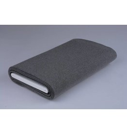 Cuff fabric Dark grey melange