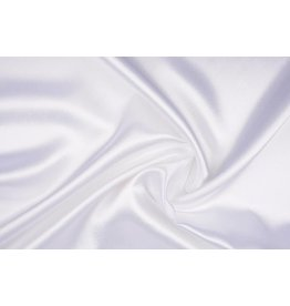 Crêpe Satin Silk White