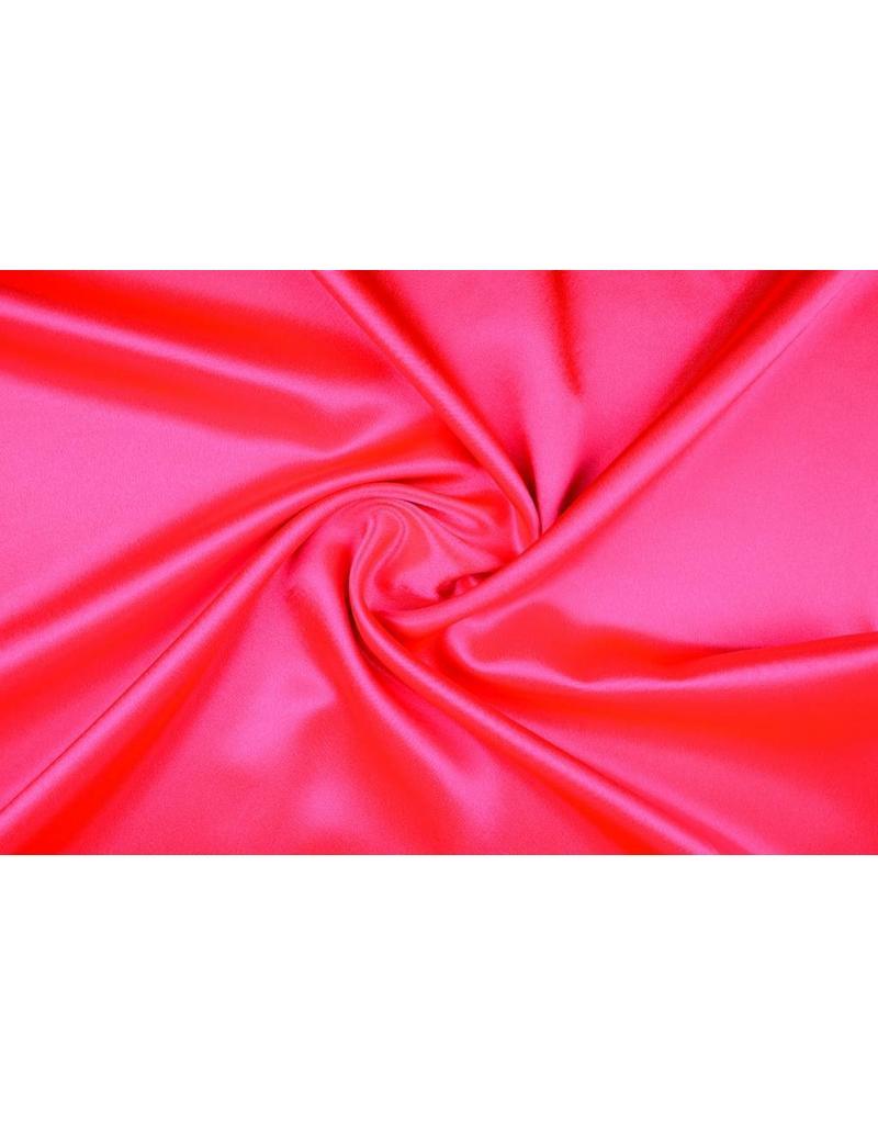 Crêpe Satijn Fluor roze