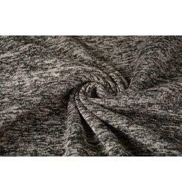 Gebreide Fleece Zwart