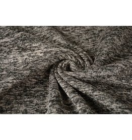 Knitted Fleece Taupe Black