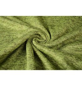 Strickfleece Dunkel-Limettengrün
