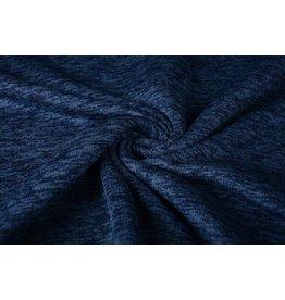 Strickfleece Marineblau