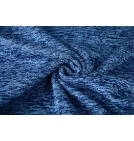 Gebreide Fleece Kobalt blauw
