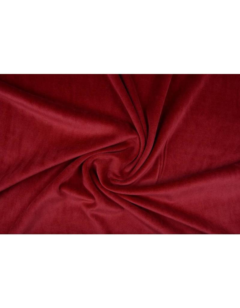 Nicky Velours Dark red