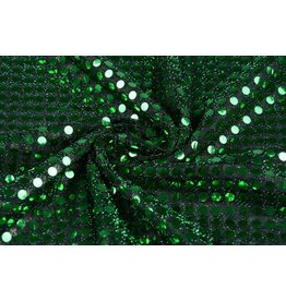 Sequins on Lurex Green