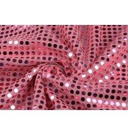 Pailletten op Mesh Oud roze
