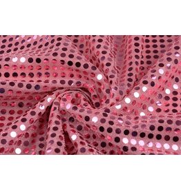 Sequins on Lurex Old Pink