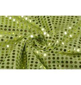 Sequins on Lurex Lime