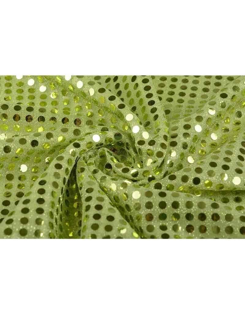 Pailletten auf Lurex Limettengrün
