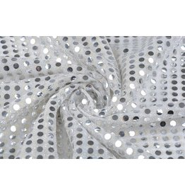 Sequins on Lurex Silver