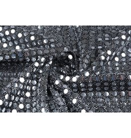 Sequins on Mesh Silver-silver