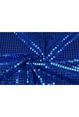 Pailletten op Lurex Kobalt blauw