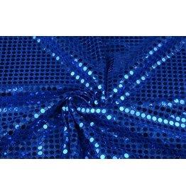Pailletten op Mesh Kobalt blauw