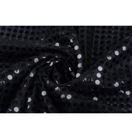 Sequins on Mesh Black