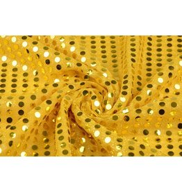 Sequins on Mesh Gold-gold