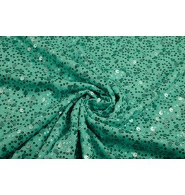 Sequins on Viscose  Sequivo  Seagreen