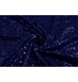 Sequins on Viscose Sequivo Royal Blue
