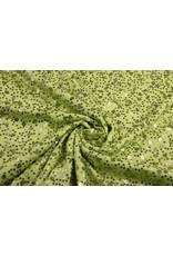 Pailletten auf Viskose Sequivo Limettengrün