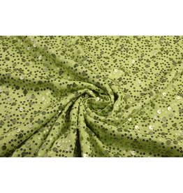 Pailletten op Viscose Sequivo Lime
