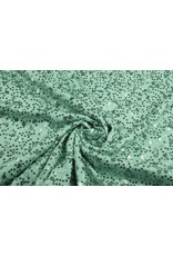 Pailletten op Viscose Sequivo Mint Groen