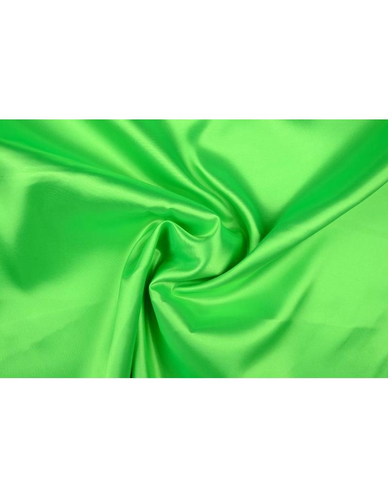 Poly Satijn Fluor groen